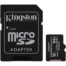 MICRO SD KINGSTON 64GB SELECT PLUS CLASA 10 + ADAPTOR SDCS2/64GB