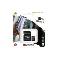 MICRO SD KINGSTON 16GB SELECT PLUS CLASA 10 UHS SDCS2/16GB