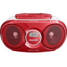 SISTEM AUDIO PHILIPS BOOMBOX CD PLAYER RED AZ215R/12