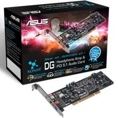 PLACA SUNET ASUS XONAR_DG 5.1 CHANNEL AUDIO CARD PCI SPDIF OUT