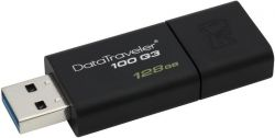 STICK USB KINGSTON 128GB DATATRAVELER USB3.0 BLACK DT100G3/128GB