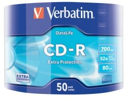 CD-R VERBATIM 700MB 52X SHRINK 50 43787