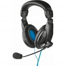 CASTI TRUST QUASAR HEADSET FOR PC AND LAPTOP BLACK 21661