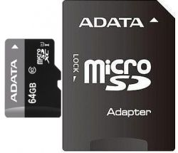 MICRO SD A-DATA PREMIER XC 64GB UHS-I U1 CLS 10 + ADAPTOR SD